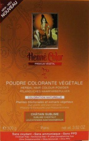 Henna Pulver Premium Leuchtendes Kastanienbraun