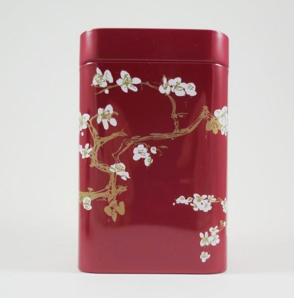 Teedose Blüte rot