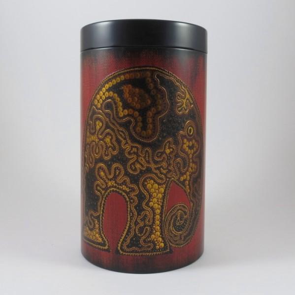 Dose Elefant gold auf rot, 500g