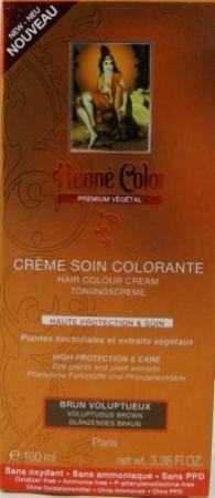 Henna Tönungscreme Glänzendes Braun Premium