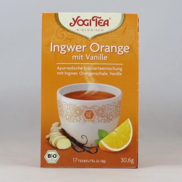 Yogi Ingwer Orange mit Vanille