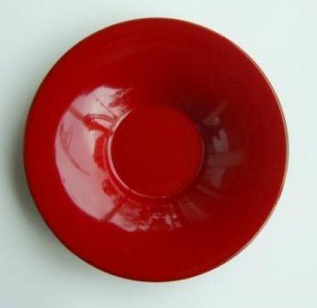 Untersetzer, Holzbasis lackiert rot