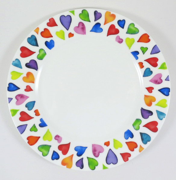 Warm Hearts plate