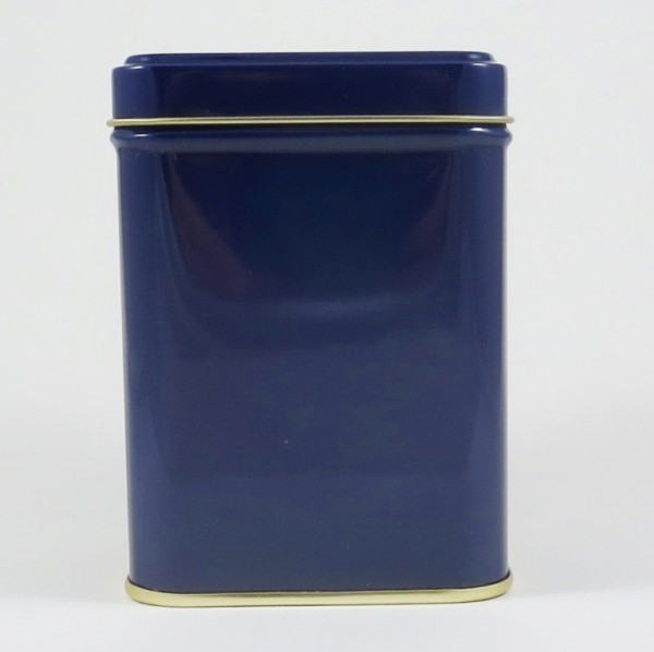 Schlicht und edel: blaue Teedose
