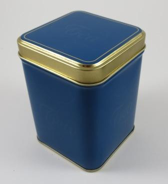 Teedose Blau-Gold