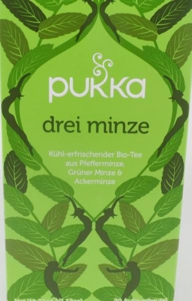 Pukka Drei Minze Bio, Kräutertee im Teebeutel