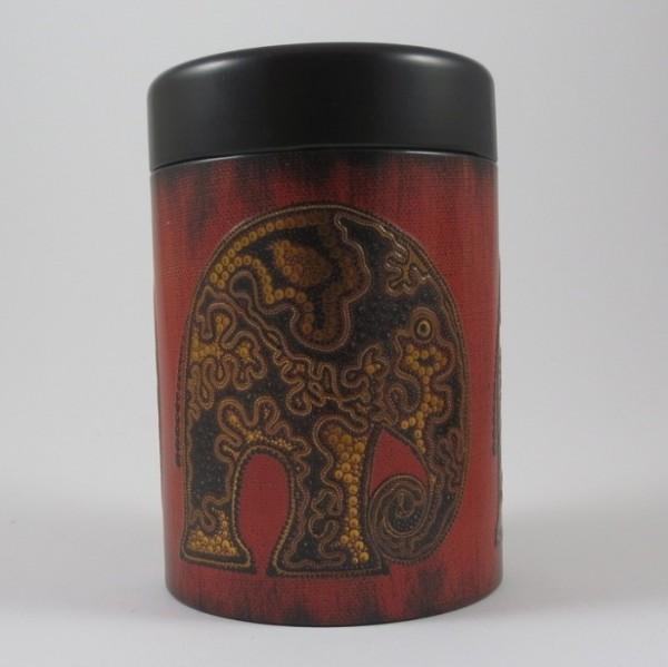 Dose Elefant gold auf rot, 125g