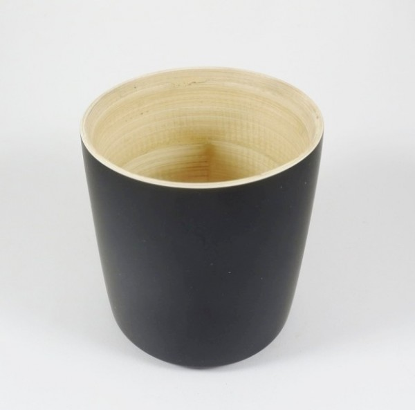 Bambus Becher Schwarz