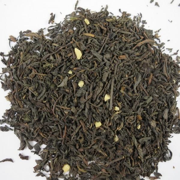 Schwarzer Tee miit Marzipan Geschmack.