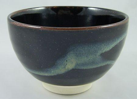 Matcha Schale braun mit blauer Wolke
