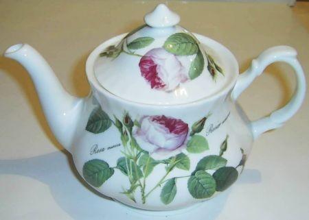 Teekanne Rose Redouté