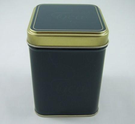 Teedose Grün-Gold