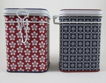 Teedosenset Rot und Blau 150