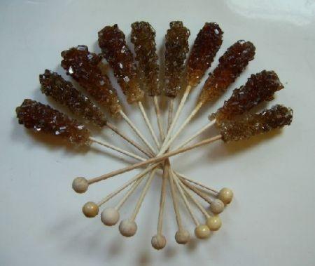 Kandisstick braun, 9 Stück