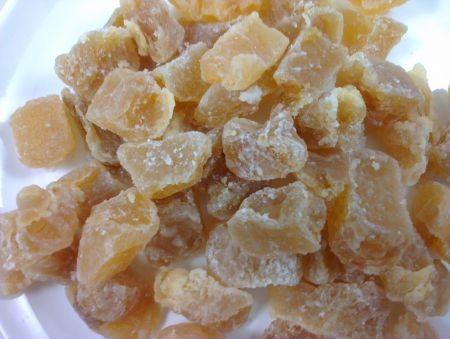 Ingwerstücke ohne Zuckerkruste