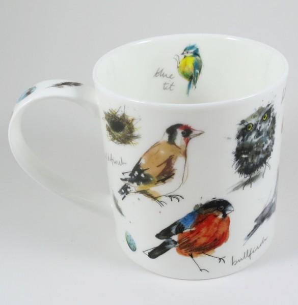 Becher Orkney, Garden Birds, 'Fine Bone China' Porzellan